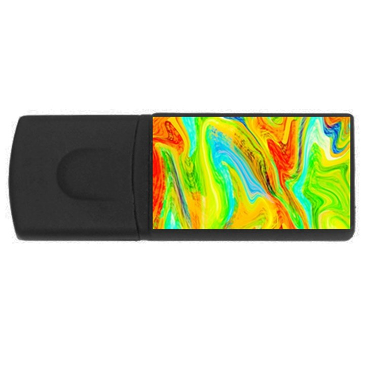 Happy Multicolor Painting USB Flash Drive Rectangular (2 GB)