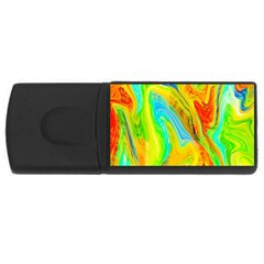 Happy Multicolor Painting USB Flash Drive Rectangular (1 GB)