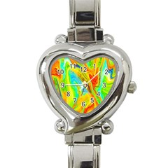 Happy Multicolor Painting Heart Italian Charm Watch