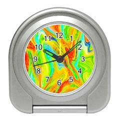 Happy Multicolor Painting Travel Alarm Clocks