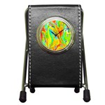 Happy Multicolor Painting Pen Holder Desk Clocks Front