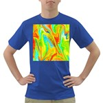 Happy Multicolor Painting Dark T-Shirt Front