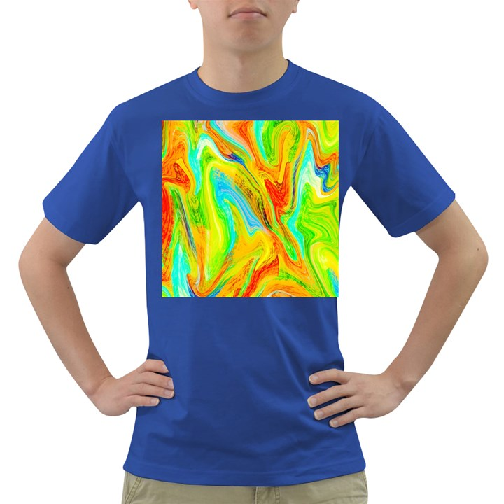 Happy Multicolor Painting Dark T-Shirt