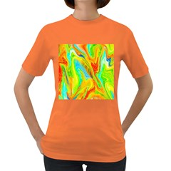 Happy Multicolor Painting Women s Dark T Shirt
