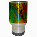 Happy Multicolor Painting Travel Mug (Silver Gray) Center