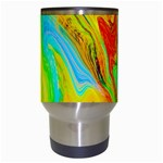 Happy Multicolor Painting Travel Mugs (White) Center
