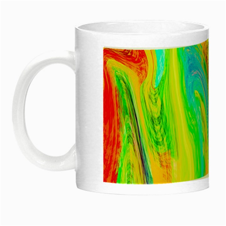 Happy Multicolor Painting Night Luminous Mugs