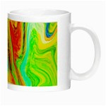 Happy Multicolor Painting Night Luminous Mugs Right
