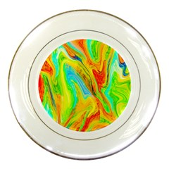 Happy Multicolor Painting Porcelain Plates