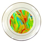 Happy Multicolor Painting Porcelain Plates Front