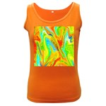 Happy Multicolor Painting Women s Dark Tank Top Front