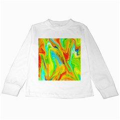 Happy Multicolor Painting Kids Long Sleeve T Shirts
