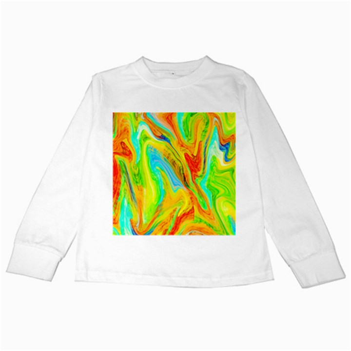 Happy Multicolor Painting Kids Long Sleeve T-Shirts