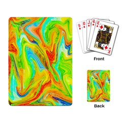 Happy Multicolor Painting Playing Card