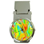 Happy Multicolor Painting Money Clip Watches Front