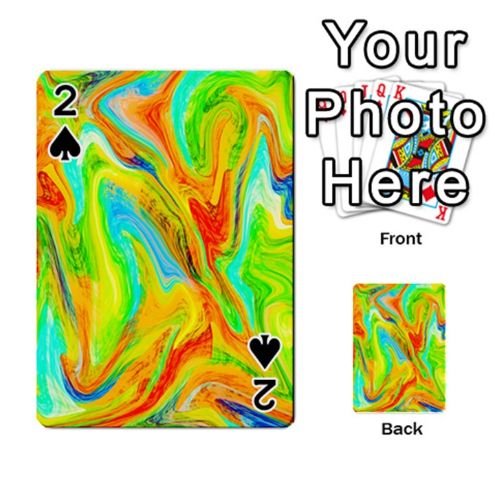 Happy Multicolor Painting Playing Cards 54 Designs