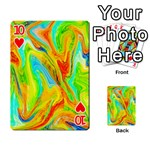 Happy Multicolor Painting Playing Cards 54 Designs  Front - Heart10