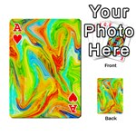Happy Multicolor Painting Playing Cards 54 Designs  Front - HeartA