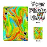 Happy Multicolor Painting Playing Cards 54 Designs  Front - Spade7