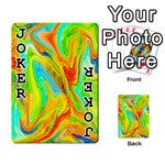 Happy Multicolor Painting Playing Cards 54 Designs  Front - Joker1