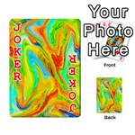 Happy Multicolor Painting Playing Cards 54 Designs  Front - Joker2
