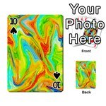 Happy Multicolor Painting Playing Cards 54 Designs  Front - Spade10