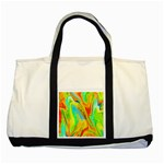 Happy Multicolor Painting Two Tone Tote Bag Front