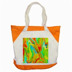 Happy Multicolor Painting Accent Tote Bag
