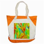 Happy Multicolor Painting Accent Tote Bag Front