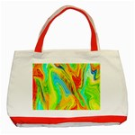 Happy Multicolor Painting Classic Tote Bag (Red) Front