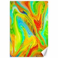 Happy Multicolor Painting Canvas 12  X 18