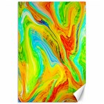 Happy Multicolor Painting Canvas 24  x 36  36 x24 Canvas - 1
