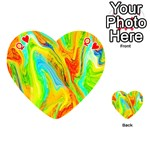 Happy Multicolor Painting Playing Cards 54 (Heart)  Front - HeartQ