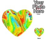 Happy Multicolor Painting Playing Cards 54 (Heart)  Front - HeartK