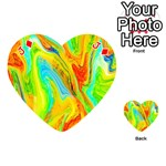 Happy Multicolor Painting Playing Cards 54 (Heart)  Front - DiamondJ