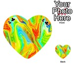 Happy Multicolor Painting Playing Cards 54 (Heart)  Front - Club4
