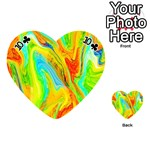 Happy Multicolor Painting Playing Cards 54 (Heart)  Front - Club10