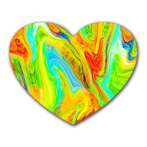 Happy Multicolor Painting Heart Mousepads
