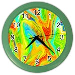Happy Multicolor Painting Color Wall Clocks Front
