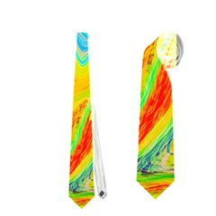 Happy Multicolor Painting Neckties (Two Side)