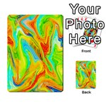 Happy Multicolor Painting Multi-purpose Cards (Rectangle)  Back 19