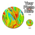 Happy Multicolor Painting Multi-purpose Cards (Round)  Back 1