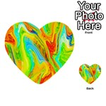 Happy Multicolor Painting Multi-purpose Cards (Heart)  Front 38
