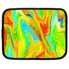 Happy Multicolor Painting Netbook Case (Large)