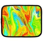 Happy Multicolor Painting Netbook Case (Large) Front
