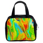 Happy Multicolor Painting Classic Handbags (2 Sides) Front
