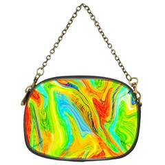 Happy Multicolor Painting Chain Purses (one Side)