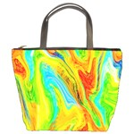 Happy Multicolor Painting Bucket Bags Front