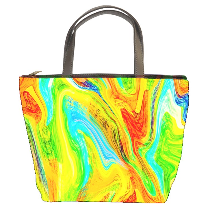 Happy Multicolor Painting Bucket Bags
