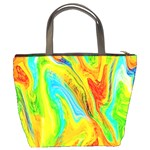 Happy Multicolor Painting Bucket Bags Back